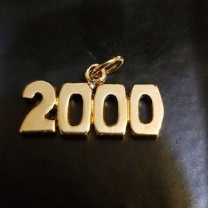 Vintage Pendant 2000, Gold Colored